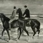 """Max Lieberman """"Två ryttare på stranden"""" 1901"""